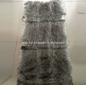 Factory Price Natural Grey Color 100% Real Rabbit Fur Plate pictures & photos