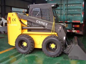 CE Small Skid Steer Wheel Loader with Snow Blade pictures & photos