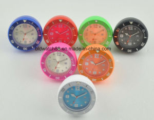 Silicone Table Clock Mini Jelly Alarm Clock for Promotional Gift pictures & photos