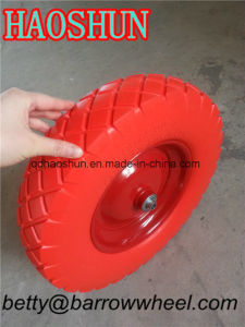 Heavy Duty Wheelbarrow PU Foam Wheel 4.00-8 pictures & photos
