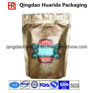 Aluminum Foil Stand up Coffee Bag with Zipper and Valve pictures & photos