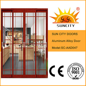 Chinese Style Colorful Glass Coated Aluminum Doors Interior (SC-AAD043) pictures & photos