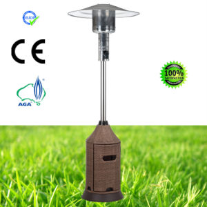 Wicker Pyramid Glass Tube Outdoor Gas Patio Heater pictures & photos