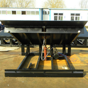 10t Electric Hydraulic Container Loading Ramp pictures & photos