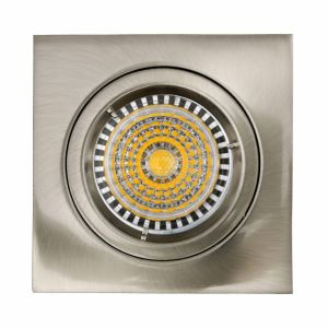 Die Cast Aluminum GU10 MR16 G5.3 Square Satin Nickel Fixed Recessed Halogen LED Lamp (LT1101) pictures & photos