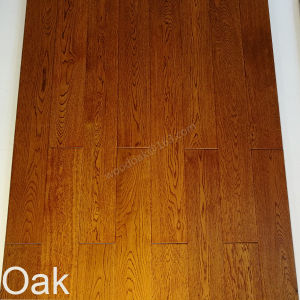 Oak Wood Flooring /Oak Hardwood Flooring with Stain Teak Color