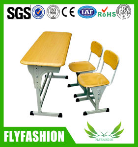 School Study Double Desk and Chair pictures & photos