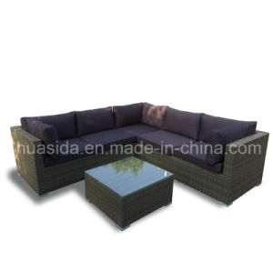 Outdoor Furniture Aluminum PE Rattan Corner Sofa Set pictures & photos