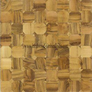 Chinese Teak Art Parquet Wood Floor (B004-1) pictures & photos