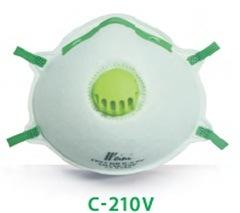 Blue Color Dust Respirators with Valve and Nose Clip Ce En149 Ffp2 pictures & photos