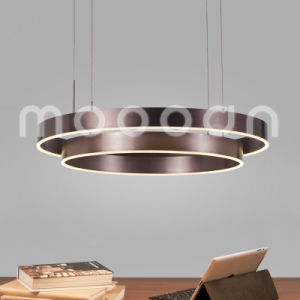 Modern Dark Brown Round Ring Aluminium Pendant Light for Living Room pictures & photos
