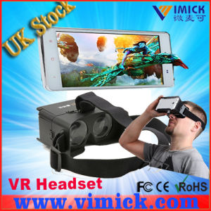 2015 New Black Plastic 3D Video Virtual Reality Headset Glasses for 3D Smartphone Video