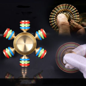Luminous Tri Fidget Hand Spinner Triangle Torqbar Brass Puzzle Finger Toy EDC Fidget Handspinner Adhd Austim Learning Toys