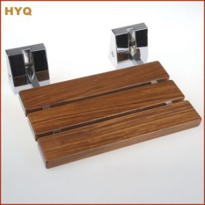 Teakwood+304 Stainless Steel Shower Seat pictures & photos