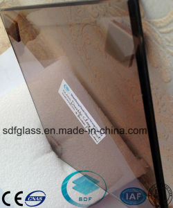 Double Clear Float Glass+Bronze PVB Laminated Glass with CE, ISO pictures & photos
