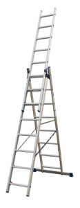 Aluminium Tool Stool Scaffold Work Platform Fold Household Multipurpose Extension Telescopic 2 Section Ladder with CE/En 131 3.78m