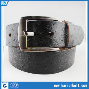 Men′s Split Leather with Spots on The Strap and Silver Buckle. Various Color Are Available (40-13129)