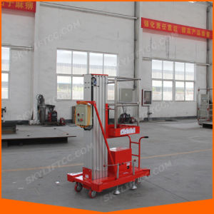 6m Battery Aluminum Single Mast Manlift with DC Power pictures & photos