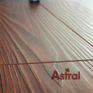 Registered Embossed Surface (U-groove) Laminate Flooring (8002) pictures & photos
