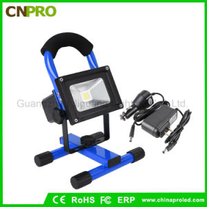 Portable Ultra Bright Cordless Spot Work Light Lamp 10W Rechargeable LED Floodlights pictures & photos