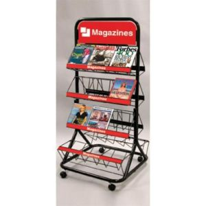 Two Sides Wire Magazine Display Rack (AD-0801-F) pictures & photos