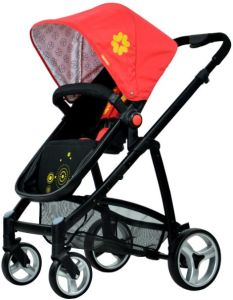 2015 New Design Aluminum Baby Stroller with Carry Cot (H5106)