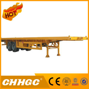 2axle Flatbed Container Semi Trailer for Sale pictures & photos