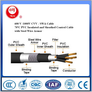 600 V 70º C PVC Insulated and Sheathed Control Cable with Steel Wire Armored