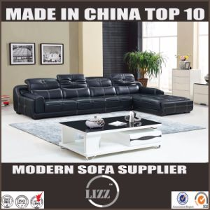 Pinyang Living China Headrest Adjustment Sectional Geniune Cow Leather Sofa pictures & photos