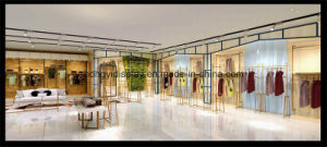 Wholesale Lady Garment Display Clothes Shop Furniture with LED Lights pictures & photos