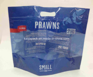Plastic Handle Stand up Zipper Packaging Bag for Prawn pictures & photos