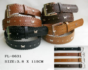 Scalloped Edge Belt with Butterfly Stud (FL-0631) pictures & photos
