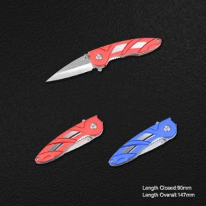 Folding Knife with Anodized Aluminum Handle (#3829) pictures & photos