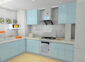 Light Blue Acrylic Kitchen Cabinet Br K 1281