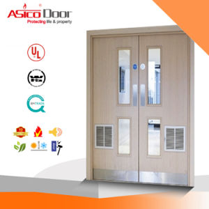 Wooden Fire Door BS Standard Part 22 Solid Wooden Fire Proof with Vision Panel pictures & photos
