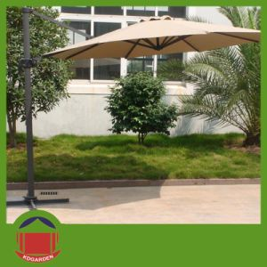 Aluminum Side Post Outdoor Folding Sun Umbrella pictures & photos