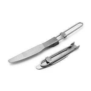 Gr4 Titanium Folding Knife, Camping Titanium Knife
