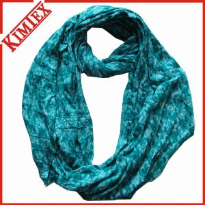 100% Polyester Tube Endless Infinity Scarf pictures & photos