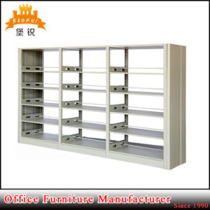 Popular 6 Layers School Library Furniture Lowest Price Durable Steel Double Layer Book Shelf pictures & photos