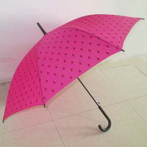 Rainshade Straight Umbrella by Pink Pongee Cover (YSS0003) pictures & photos