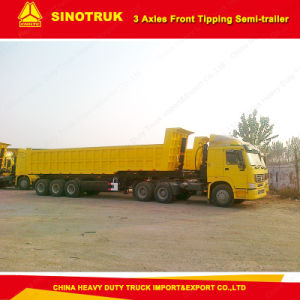 Tri-Axle 50 Ton Front Tipping Seni-Trailer pictures & photos