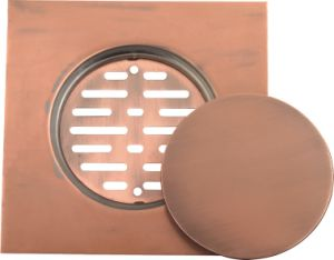 Stainless Steel Floor Drain Copper Color (YD-S014)