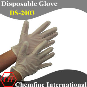 CE/ ISO Approved Yellow Powdered Synthetic Disposable Glove with Rolled Cuff/ En420; En455 pictures & photos