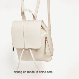 Fashion Leisure Student Backpack Pure Color PU Backpack pictures & photos