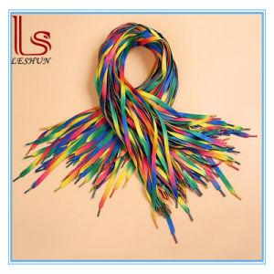 Wide Flat Colorful Shoelace Rainbow Gradient Shoelaces pictures & photos