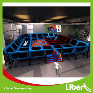 Liben Manufacturer Supplier Indoor Trampoline Location with Foam Pit pictures & photos
