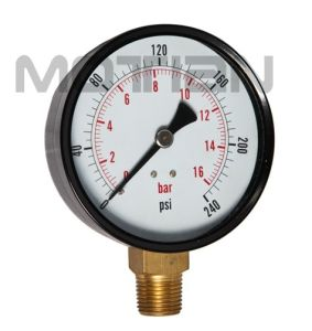 3.5 Inch Standard Stainless Steel Case Plastic Surface Hoops Bourdon Tube Pressure Gauge pictures & photos