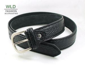 Classic and Basic Man Belt with Split Leather Linning M691 pictures & photos