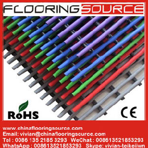 Plastic Tubular Floor Mat PVC Tubes Design for Good Water Drain Dust Control and Anti Slip