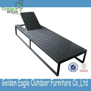 Plastic Wood Sun Lounger, Sunbed
